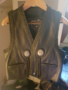 Leather vest and more