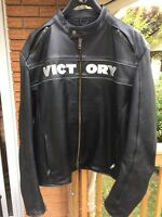 Victory leather motorcycle jacket.