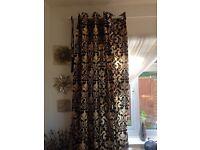 Black and cream curtains