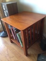 Nice teak/cherry side table. Mission style