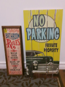 Vintage Wooden Signs ( READ FULL AD )