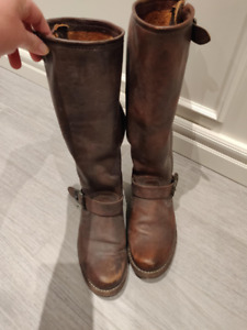 Frye Tall Leather Boots - Size 7
