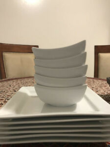 white dish set