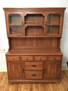 Teak Dining Hutch And Sideboard
