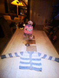Girls winter pom pom hat & cardigan NEXT