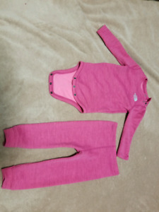 North Face Girls Baselayer Set (18-24M) - Mint Condition