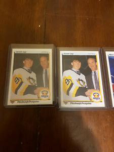 Two Sundin rookie cards, and two Jager rookies cards