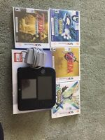 2ds with games (Pokemon, Zelda, and Mario)