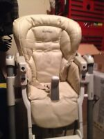 Peg perego leather high chair