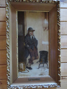 GEO. DAWSON - 2 paintings with matching frames
