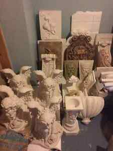 Plaster Statues and Plaques