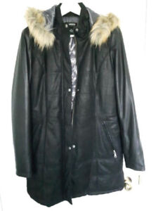 New Danier Leather Winter Coat Size M