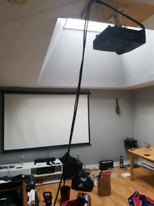 HDMI projector and screen