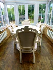 Shabby Chic Dining Table and 6 Chairs - Uses