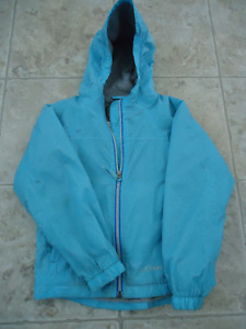 LL Bean Hooded, lined girls spring jacket