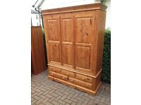 Stunning pine wardrobe delivery available