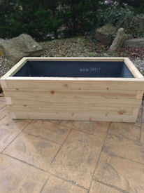 Fully lined custom made planters