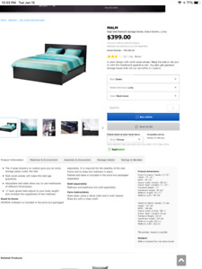 IKEA Queen Size Bed Frame for sale