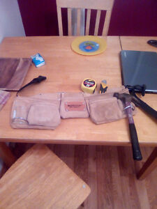 TOOL POUCH WITH HAMMER MEASURING TAPE AND KNIFE Edmonton Edmonton Area image 1