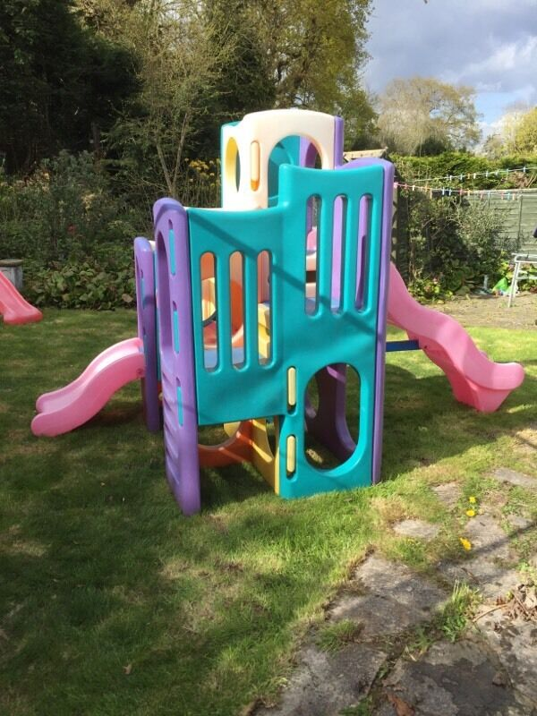 Little tikes tropical playground climbing frame slide for Little tikes outdoor playset