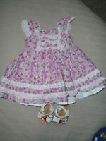 ♥ Baby Girl Dress Savannah Size 3 – 6 Months + Shoes ♥ALL 10 $