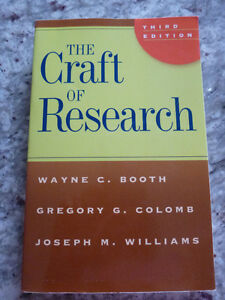 The Craft of Research book, 3rd edition Kitchener / Waterloo Kitchener Area image 1
