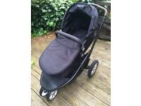 Mothercare Xpedior Travel System Pram+Bouncer+Diono Body Support+cot mobile