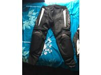 Women's RST leather motorcycle trousers
