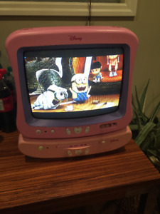 """Disney DT1350-P 13"""" Analog CRT TV and DVD player, READ !"""
