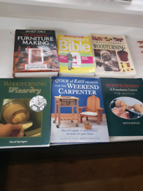 Set of 6 woodturning/building books. Good condition.
