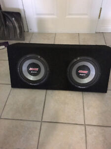 Pioneer 2x10 400w subs and 600w Rockford amp