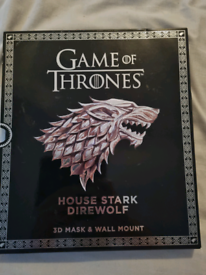 Game of Thrones House Stark Direwolf 3D mask and wall mount