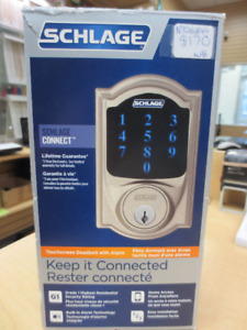 Schlage touchscreen deadbolt with alarm