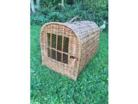 Wicker Cat or small Dog carrier. Carrying basket. Kennel. As new.