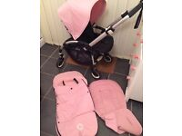 Bugaboo bee + plus soft pink