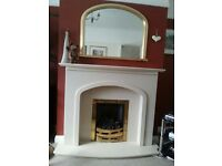 Coal effect gas fire, Marble and MDF