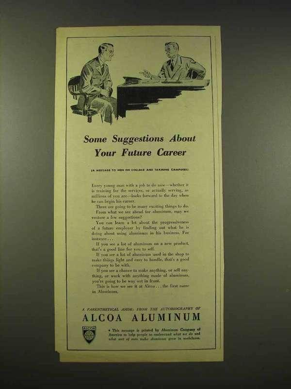 1944 Alcoa Aluminum Ad - Your Future Career