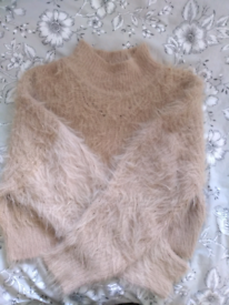 Cropped Turtleneck Wool Jumper