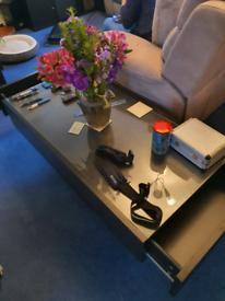 IKEA Black/Brown Coffee Table