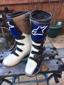 Motorcycle enduro motocross boots size 10
