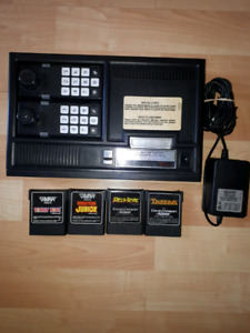 Colecovision console with 4 games