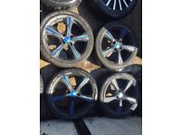 "17"" ALLOY WHEELS ASTRA, CORSA, CLIO, MAGANE, CIVIC, SET OF 4"