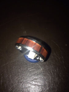 ❤️ MENS/WOMENS WEDDING RING BAND TUNGSTEN & WOOD SIZE 11