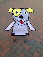Cute Puppy Camping/ Backyard chair for child