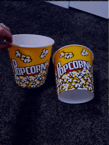 Set of 2 popcorn buckets