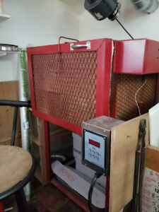 Lalonde Glass Fusing Kiln and Glass Storage and Shelving