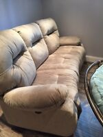 Power recliner curved couch. Basically new
