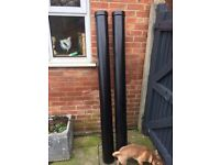"Cast alloy 6"" guttering new 2 lengths over 4 meters"