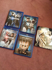 The first 5 movies in the X-Men series on blu-ray (Mint!)
