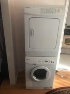 24 inch Samsung stackable Washer Dryer Set For Sale